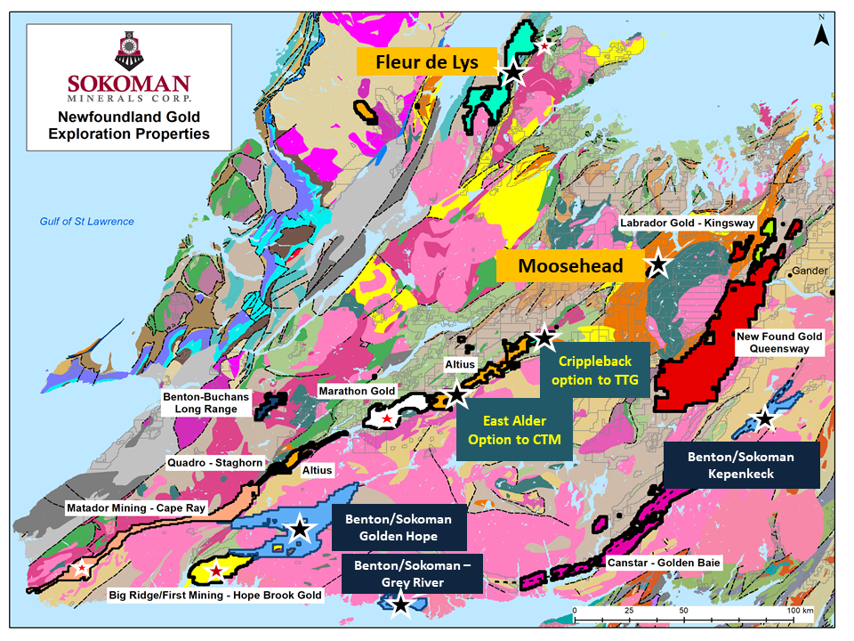 Sokoman Minerals Properties Newfoundland