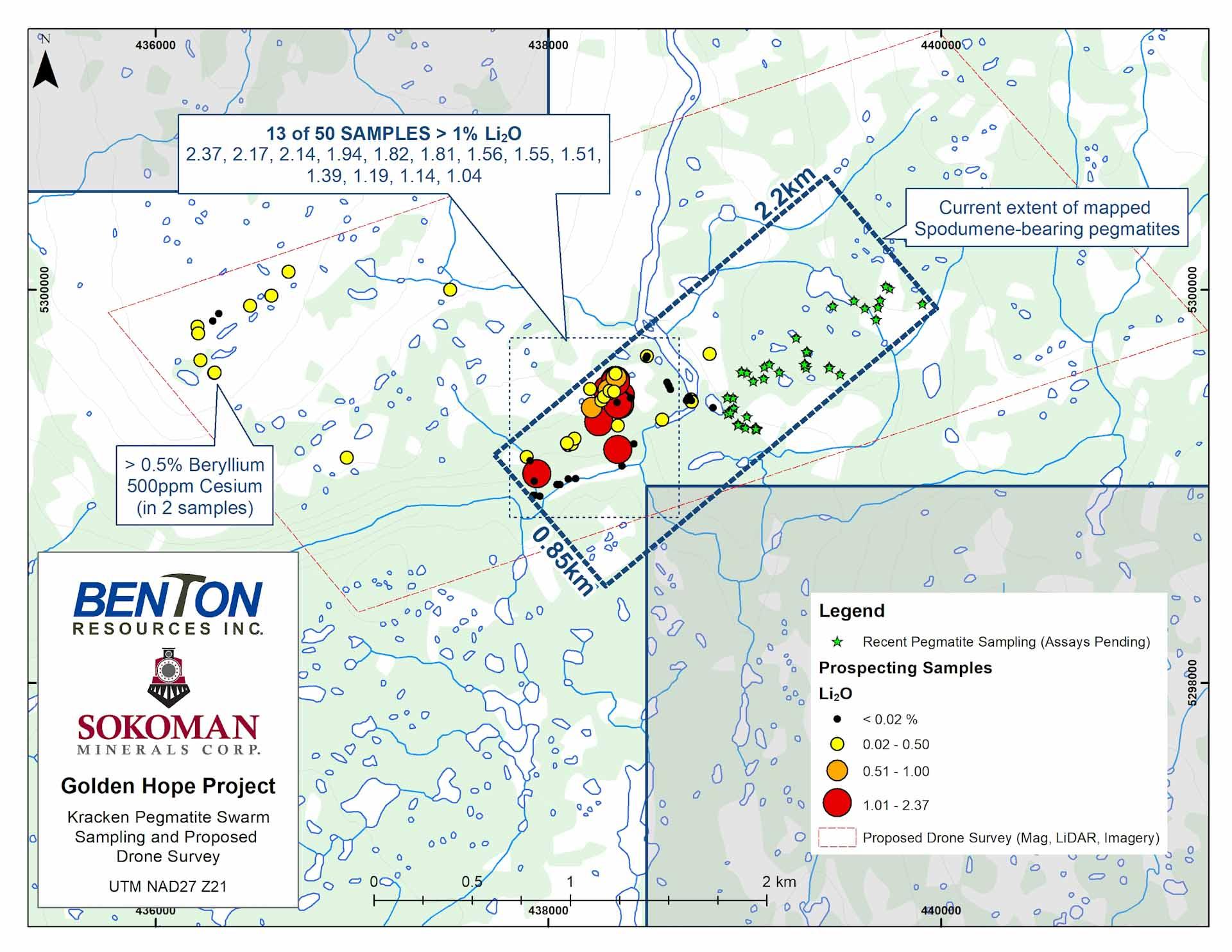 GH Sampling Update,Sokoman Minerals,Benton Resources