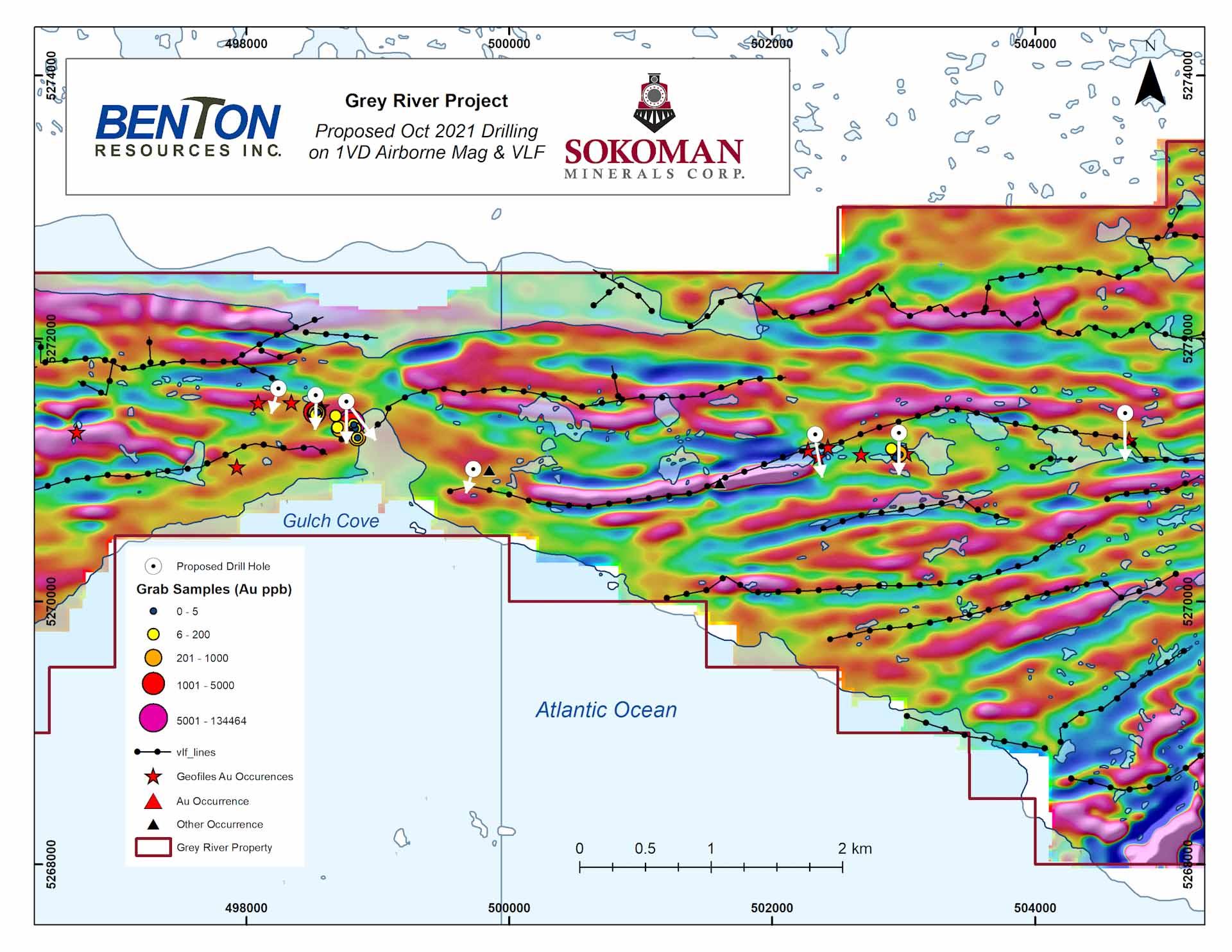 Grey River,Joint Venture Project,Sokoman Minerals,Benton Resources,NL